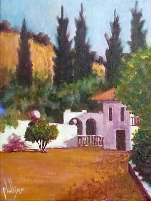 Painting - The Hidden Villa by Jim Phillips