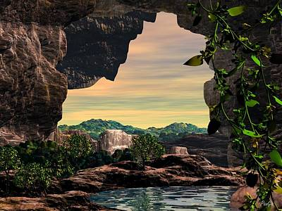 Digital Art - The Hidden World Of Son Doong Cave by John Pangia