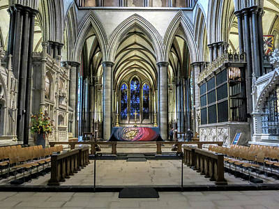Photograph - The High Altar In Salisbury Cathedral by Phyllis Taylor