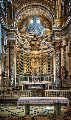 Photograph - The High Altar Of I Gesuiti by Fine Art Photography Prints By Eduardo Accorinti