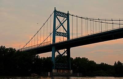 The High Level Aka Anthony Wayne Bridge I Art Print by Michiale Schneider