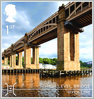 The Riverside Road Painting - The High Level Bridge by Lanjee Chee