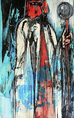 Creepy Mixed Media - The High Priest by Nicole Potocki