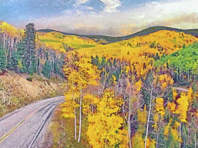 Digital Art - The High Road To Taos by Digital Photographic Arts