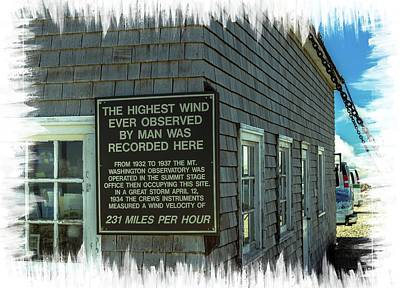 Photograph - The Highest Windspeed Ever Observed By Man by Sherman Perry