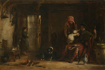 Painting - The Highland Family by David Wilkie