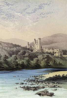 The Royal Family Painting - The Highland Home, Balmoral Castle by English School
