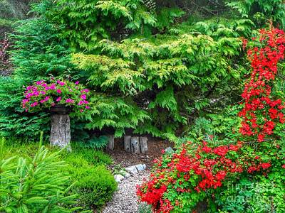Photograph - The Highlands Cottage Garden by Joan-Violet Stretch