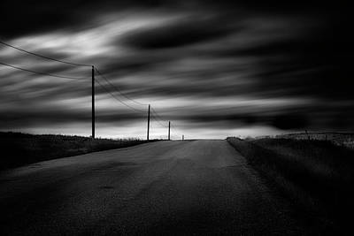 Prairie Storm Photograph - The Highway by Dan Jurak