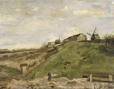 Painting - The Hill Of Montmartre With Stone Quarry 2 by Artistic Panda