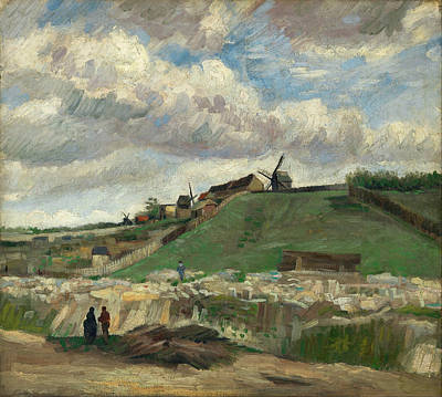 Agronomy Painting - The Hill Of Montmartre With Stone Quarry And Windmills, 1886 01 by Vincent Van Gogh