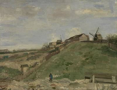 Painting - The Hill Of Montmartre With Stone Quarry Paris, June - July 1886 Vincent Van Gogh 1853  1890 by Artistic Panda