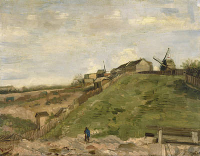 The Hill Of Montmartre With Stone Quarry Art Print by Vincent van Gogh