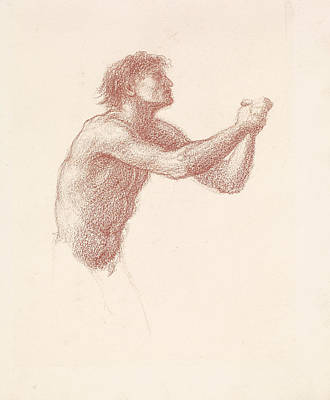 Drawing - The Hill Of Venus Male Nude by Edward Burne-Jones