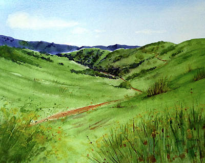 Rill Painting - The Hills Of Chino by Janice Sobien