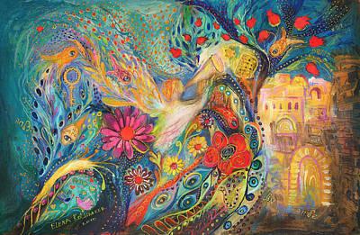 The Hills Of Jaffo Print by Elena Kotliarker