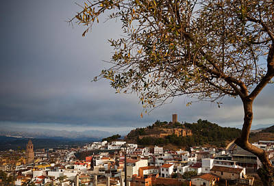 The Hilltop Castle And Town Of Valez Art Print by Panoramic Images