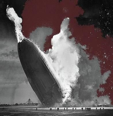 Target Threshold Nature - The Hindenburg disaster number three Lakehurst New Jersey May 6 1937 color added 2015 by David Lee Guss