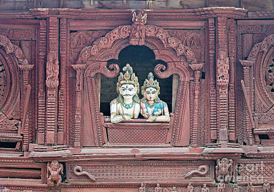 Parvati Photograph - The Hindu Gods Shiva And Parvati Sitting In A Window Overlooking by Roberto Morgenthaler