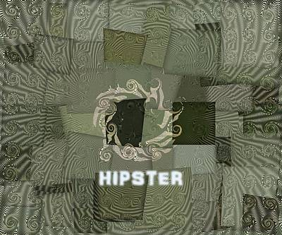 Counterculture Digital Art - The Hipster by Dan Sproul