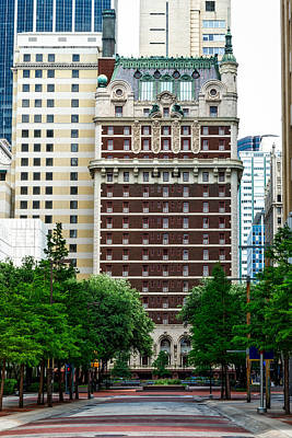 Relief Art Photograph - The Historic Adolphus Hotel by Mountain Dreams