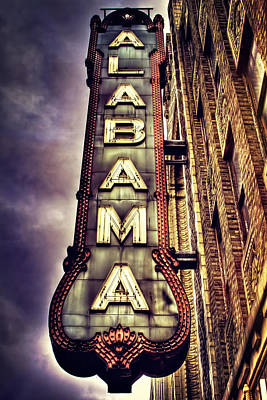 Theatre District Photograph - The Historic Alabama Theatre by Marc Parker
