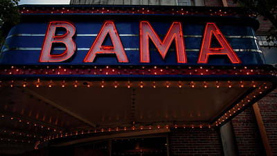 The Historic Bama Theatre Art Print by Mountain Dreams