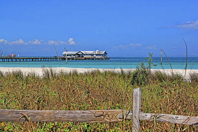 Photograph - The Historic City Pier On Anna Maria by HH Photography of Florida