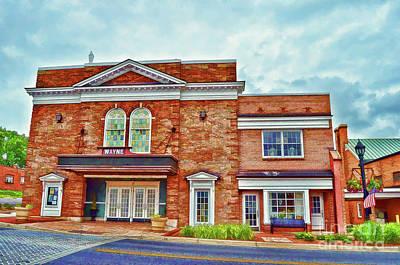 Photograph - The Historic Wayne Theatre - Waynesboro Virginia - Art Of The Small Town by Kerri Farley