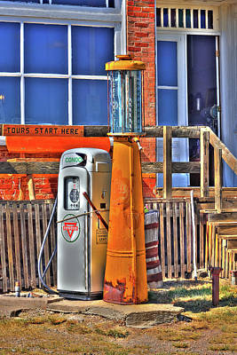 Photograph - The Historical Fuel Pump by Richard J Cassato