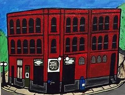 Painting - The Historical Menominee Michigan Downtown Sub Shoppe by Jonathon Hansen