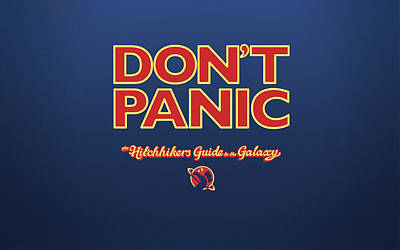 Design Wall Art - Digital Art - The Hitchhiker's Guide To The Galaxy by Super Lovely