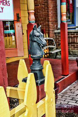 Novel Photograph - The Hitching Post by Paul Ward