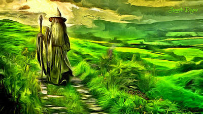 Tolkien Digital Art - The Hobbit - Da by Leonardo Digenio