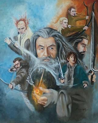 The Hobbit- The Desolation Of Smaug  Art Print by Marcela Rogel de Pepper