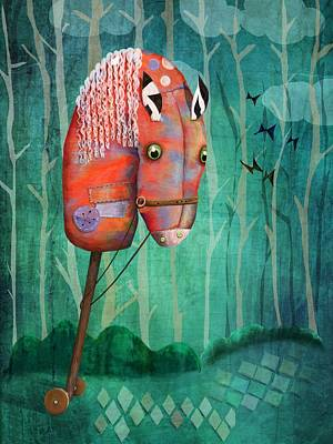 The Hobby Horse Art Print by Catherine Swenson
