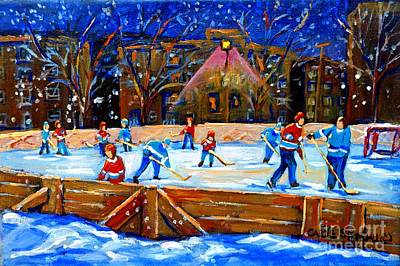 Painting - The Hockey Rink by Carole Spandau