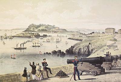 Drake Drawing - The Hoe, Drakes Island And Mt Edgecumbe by Vintage Design Pics