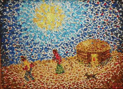 Navaho Painting - The Hogan by Aileen Senior