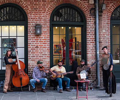 Photograph - The Hokum High Rollers In The French Quarter by Tim Bryan
