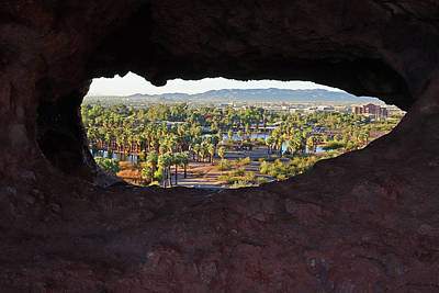 Photograph - The Hole-in-a-rock Popago Park Phoenix Arizona by Toby McGuire
