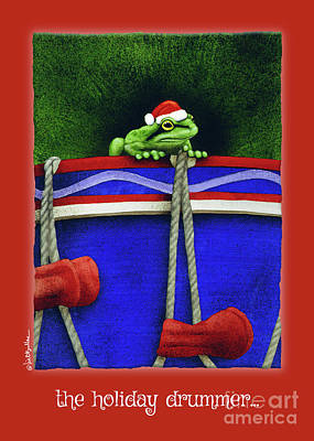 Painting - The Holiday Drummer... by Will Bullas