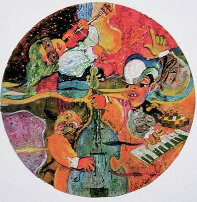 Painting - The Holland Jazz Trio by Lee Ransaw
