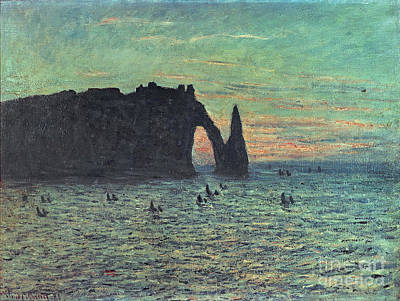 Hollow Painting - The Hollow Needle At Etretat by Claude Monet