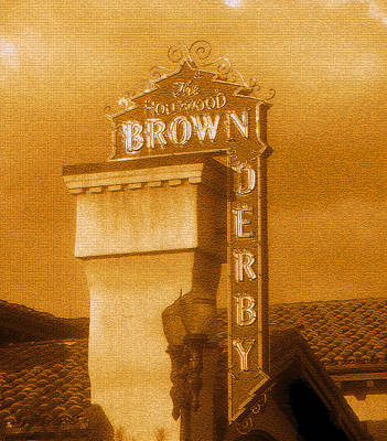 Old Hollywood Digital Art - The Hollywood Brown Derby by David Lee Thompson