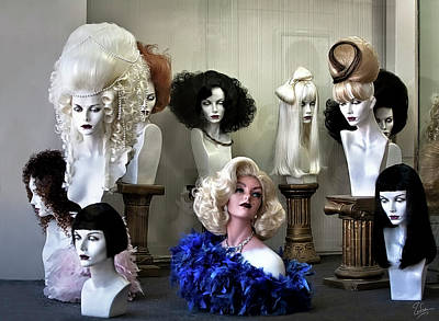 Photograph - The Hollywood Wig Shop by Endre Balogh