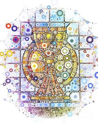 Communion Digital Art - The Holy Chalice by Mary Bassett