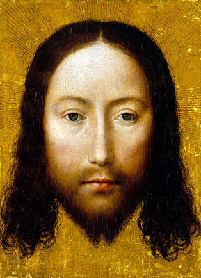 Made-without-hands Painting - The Holy Face by Flemish School