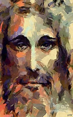 Christ Painting - The Holy Face Of Jesus  by Dragica Micki Fortuna