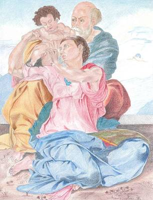 The Holy Family Michelangelo Original